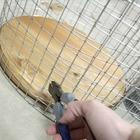 Обрезаем сетку по размеру дна