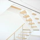 Лестница на второй этаж. Легкая и воздушная. (лестница,1950-70е,архитектура,дизайн,интерьер,экстерьер,мебель)