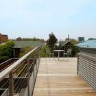 Терраса на крыше модернистского дома.