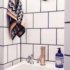 Умывальник заглубленный в нише кажется меньше чем есть на самом деле. (ванна,санузел,душ,туалет,дизайн ванной,интерьер ванной,сантехника,кафель,скандинавский,мебель,квартиры,апартаменты,интерьер,дизайн интерьера)