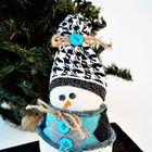 Шерстяной снеговичок. (сделай сам,самоделки, новый год,рождество,снеговик,праздник,дизайн,декор)
