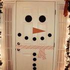 Снеговик из белой двери. (сделай сам,самоделки, новый год,рождество,снеговик,праздник,дизайн,декор)