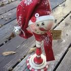Снеговик из подсвечника. (сделай сам,самоделки, новый год,рождество,снеговик,праздник,дизайн,декор)