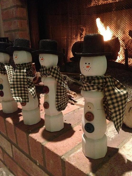 Деревянные снеговики - кегли.