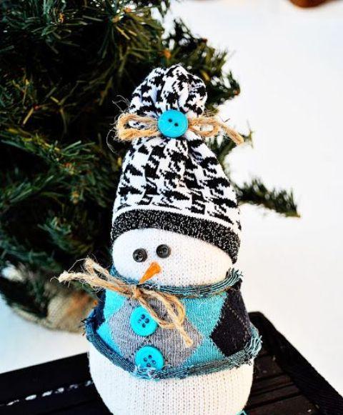 Шерстяной снеговичок.