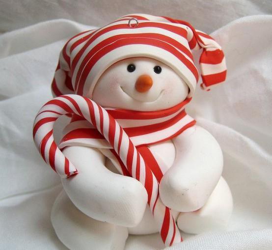 Сладкий съедобный снеговик?