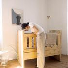 Деревянная детская кровать в интерьере. (мебель,детская,игровая,детская комната,детская спальня,дизайн детской,интерьер детской)