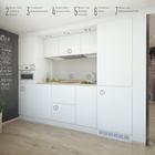 На кухне вся бытовая техника встроенная с белыми фасадами. На единственной стене кухни можно рисовать мелом. (квартиры,апартаменты,архитектура,дизайн,экстерьер,интерьер,дизайн интерьера,мебель,индустриальный,лофт,винтаж,стиль лофт,индустриальный стиль,минимализм,современный,кухня,дизайн кухни,интерьер кухни,кухонная мебель,мебель для кухни)