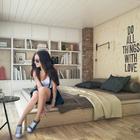Спальня на втором уровне квартиры.