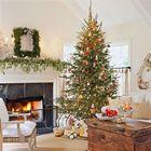 Стройная и элегантная елка с золотыми красными акцентами. (год обезьяны,елка,новогодняя елка,рождественская елка,новый год,дед мороз,рождество,сделай сам,самоделки,интерьер,дизайн интерьера)