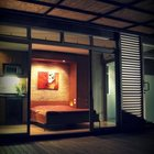 Спальня имеет выход на террасу :) (на открытом воздухе,патио,спальня,минимализм,пляжный,мебель,архитектура,дизайн,интерьер,экстерьер,маленький дом,современный)