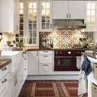 Кухня готова к новогодним праздникам. (кухня,дизайн кухни,интерьер кухни,кухонная мебель,мебель для кухни,скандинавский,интерьер,дизайн интерьера,мебель)