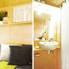 Спальня и ванна (ванна,санузел,душ,туалет,спальня,мебель,архитектура,дизайн,интерьер,экстерьер,маленький дом,минимализм)