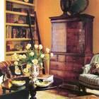 Небольшая библиотека на втором этаже. (гостиная,дизайн гостиной,интерьер гостиной,мебель для гостиной,интерьер,дизайн интерьера,мебель, французская провинция)