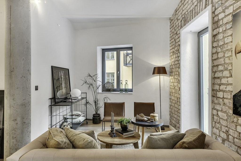 Гостиная является частью общего жилого пространства