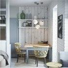Объединение гостиной и столовой сделало оба помещения больше визуально. (квартиры,апартаменты,мебель,интерьер,дизайн интерьера,скандинавский,гостиная,дизайн гостиной,интерьер гостиной,мебель для гостиной,столовая,дизайн столовой,интерьер столовой,мебель для столовой)