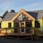 Фасад маленького энергоэффективного дома