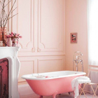 Ванная комната в розовых тонах (ванна,санузел,душ,туалет,дизайн ванной,интерьер ванной,сантехника,кафель,интерьер,дизайн интерьера,мебель,камин,очаг,викторианский)
