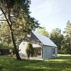 Фасад маленького дома (фасад,минимализм,маленький дом,архитектура,дизайн,интерьер,экстерьер)