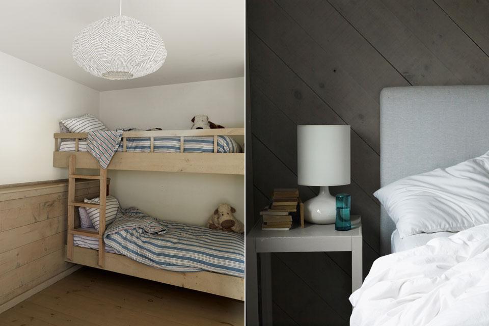 Детская с двухъярусной кроватью и одна из спален.