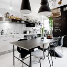 Кухня больше воспринимается как столовая, где кухня является лишь небольшим функциональным дополнением. (индустриальный,лофт,винтаж,стиль лофт,индустриальный стиль,интерьер,дизайн интерьера,мебель,квартиры,апартаменты,кухня,дизайн кухни,интерьер кухни,кухонная мебель,мебель для кухни,гостиная,дизайн гостиной,интерьер гостиной,мебель для гостиной)