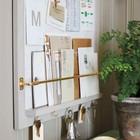Удобное решение для организации корреспонденции, заметок и ключей. (вход,прихожая,интерьер,дизайн интерьера,мебель)