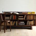 В данной версии стол имеет два яруса для книжных полок. (интерьер,дизайн интерьера,мебель,гостиная,дизайн гостиной,интерьер гостиной,мебель для гостиной)