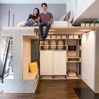Система Domino Loft была разработана для молодой пары проживающей в небольшой квартире в Сан-Франциско.