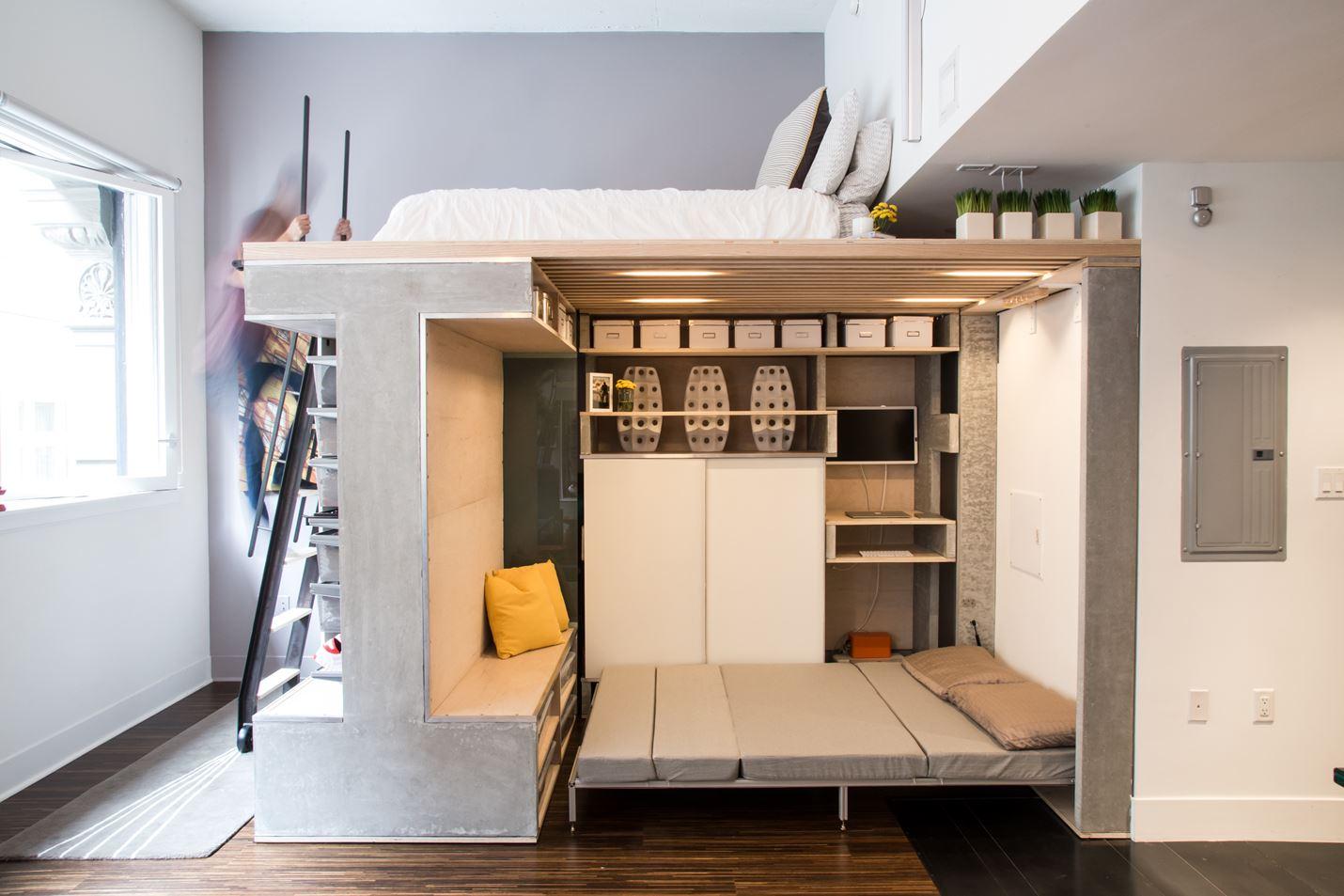 Две полноценные спальни на столь малой площади.