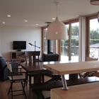 Гостиная и столовая, вид со стороны кухни. (архитектура,дизайн,экстерьер,интерьер,дизайн интерьера,мебель,современный,гостиная,дизайн гостиной,интерьер гостиной,мебель для гостиной,столовая,дизайн столовой,интерьер столовой,мебель для столовой,кухня,дизайн кухни,интерьер кухни,кухонная мебель,мебель для кухни)