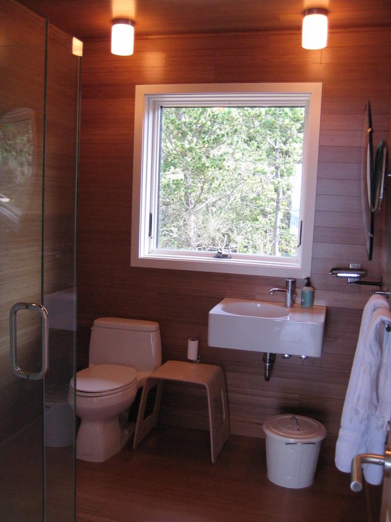 Вторая ванна с душевой кабиной.