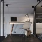 Небольшой домашний офис на втором уровне квартиры.