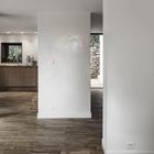 Слева кухня, а справа расположена пристроенная ванная. (архитектура,дизайн,экстерьер,интерьер,дизайн интерьера,мебель,маленький дом,минимализм,современный,кухня,дизайн кухни,интерьер кухни,кухонная мебель,мебель для кухни,гостиная,дизайн гостиной,интерьер гостиной,мебель для гостиной)