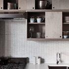 Кухня в цветовой гамме серое на сером (кухня,современный,мебель)