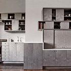 Кухонная мебель сливается с мебелью жилой комнаты образуя единый ансабль (столовая,жилая комната,кухня,гостинная,современный,мебель,архитектура,дизайн,интерьер,экстерьер,строительство,ремонт,модернизация,реконструкция)