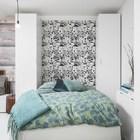 Кровать Мерфи в разложенном виде. (скандинавский,современный,интерьер,дизайн интерьера,мебель,квартиры,апартаменты,спальня,дизайн спальни,интерьер спальни)