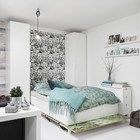 С откинутой кроватью гостиная превращается в полноценную спальню.
