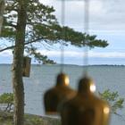 Вид на залив из дома.