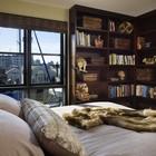 Одна из спален на втором этаже дома (индустриальный,лофт,винтаж,стиль лофт,индустриальный стиль,архитектура,дизайн,экстерьер,интерьер,дизайн интерьера,мебель,спальня,дизайн спальни,интерьер спальни)