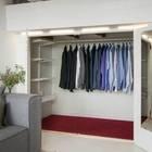 Гардероб очень вместительный. (скандинавский,интерьер,дизайн интерьера,мебель,квартиры,апартаменты,хранение,гардероб,шкаф,комод)