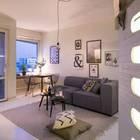 Интересным решением было подсветить изнутри ступеньки. Так они выглядят необычно. (скандинавский,интерьер,дизайн интерьера,мебель,квартиры,апартаменты,гостиная,дизайн гостиной,интерьер гостиной,мебель для гостиной,столовая,дизайн столовой,интерьер столовой,мебель для столовой)