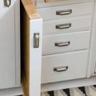Очень интересное решение с выдвижными досками. (скандинавский,интерьер,дизайн интерьера,мебель,квартиры,апартаменты,кухня,дизайн кухни,интерьер кухни,кухонная мебель,мебель для кухни)