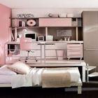 Еще одна детская с рабочим столом на подиуме и кроватью задвигающейся под подиум. (детская,игровая,детская комната,детская спальня,дизайн детской,интерьер детской,интерьер,дизайн интерьера,мебель,современный,минимализм)