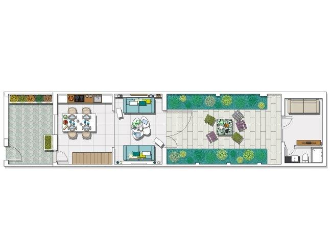 План реконструированного первого этажа