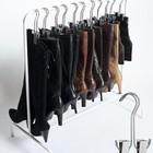 Сапоги можно повесить, например в гардеробе. Для этого можно приобрести специальные вешалки. (мебель,интерьер,дизайн интерьера,хранение,гардероб,шкаф,комод)
