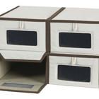 Текстильные коробки для обуви защитят обувь от пыли. (мебель,интерьер,дизайн интерьера,хранение,гардероб,шкаф,комод)