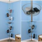 Удобное решение от пола до потолка позволяющее разместить большое количество обуви на маленькой площади. (мебель,интерьер,дизайн интерьера,хранение,гардероб,шкаф,комод)
