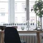 Домашний офис выходит окнами в зимний сад. (индустриальный,лофт,винтаж,стиль лофт,индустриальный стиль,квартиры,апартаменты,мебель,интерьер,дизайн интерьера,домашний офис,офис,мастерская)