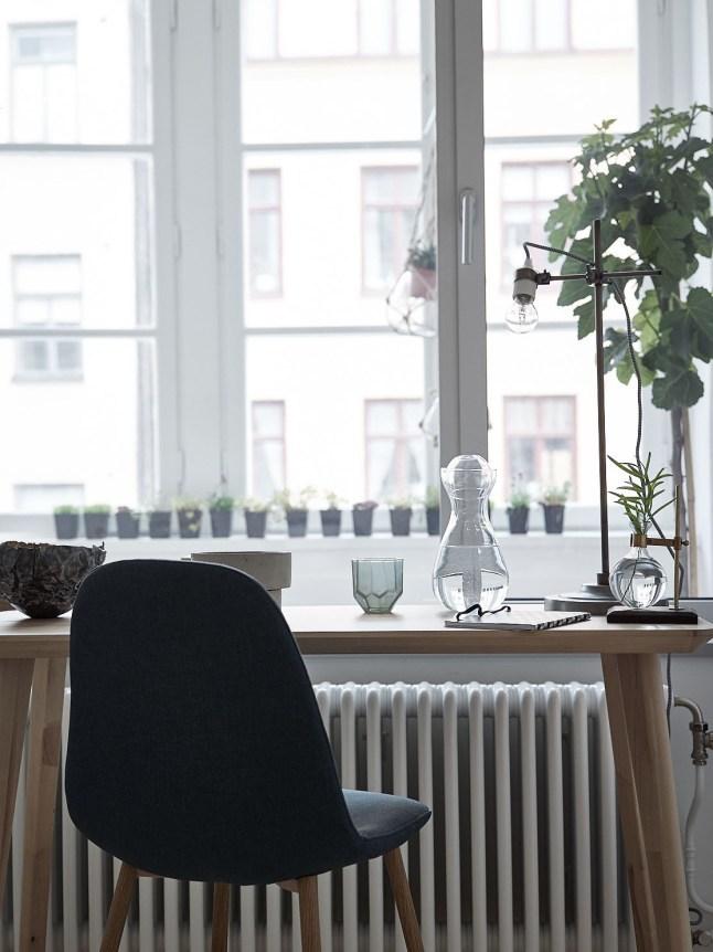 Домашний офис выходит окнами в зимний сад.