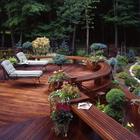 Аккуратная деревянная терраса. (на открытом воздухе,патио,балкон,терраса,средиземноморский,архитектура,дизайн,экстерьер,мебель)